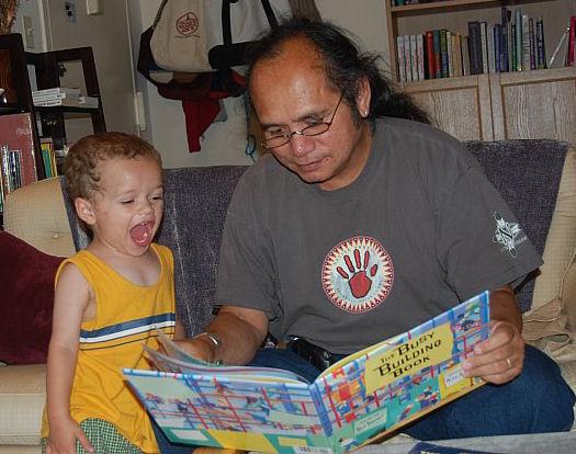 Grandpa Mateo and Christopher (age 3) July 2007