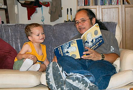 Grandpa Mateo and Christopher (Age 3) Summer 2007